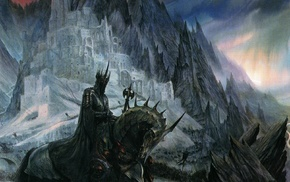 fantasy art, horse, Sauron, John Howe, The Lord of the Rings