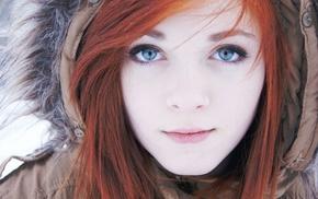 girls, girl, face, eyes, red hair
