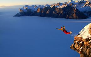 height, snow, bounce, stunner, mountain