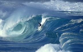 wave, men, surfing, ocean, extreme