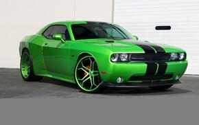 auto, wheels, cars, Dodge, green