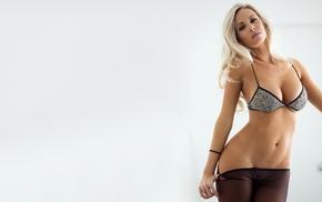 blonde, boobs, girls, figure, pantyhose