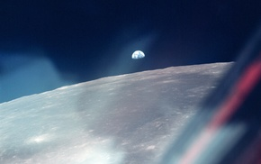 астронавт, луна, космос, Земля