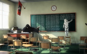 Sith, Star Wars, clocks, classroom, humor, clone trooper