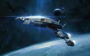 Mass Effect 2, Mass Effect, video games, Normandy SR, 2, spaceship