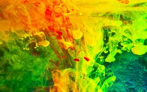 paint in water, liquid, abstract, colorful