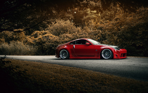 auto, road, forest, sportcar, wheels