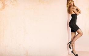 lingerie, Doutzen Kroes, legs, tight clothing, heels, blonde