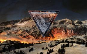 polyscape, nature, snow, mountain