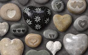 stone, gray, love, heart, beautiful