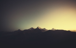 climbing, mountain, sunrise, Nepal, blurred, Himalayas