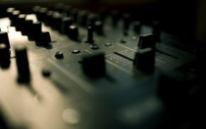 consoles, depth of field, sound, techno, mixing consoles