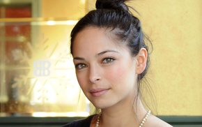 girl, model, face, brunette, actress, pearl necklace, Kristin Kreuk