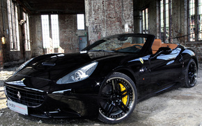 black, Ferrari, sportcar, building, wheels