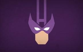 minimalism, superhero, Hawkeye, Marvel Comics, comics, heroes