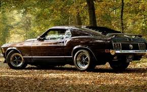 Ford Mustang, fastback mach 1, Ford, car, muscle cars