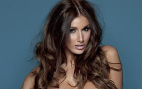 girl, Lucy Pinder, model, brunette