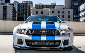 blue, automobile, cars, gray, mustang