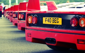 old car, Ferrari F40, F40