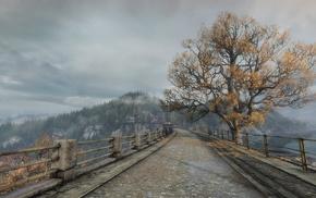 мост, игры, пейзаж