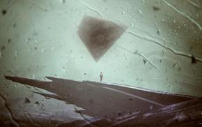 Kuldar Leement, rain, triangle, artwork, abstract, anime