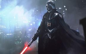 Звездные войны, произведение искусства, Дарт Вейдер, лазерный меч