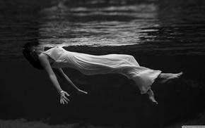 девушка, вода