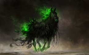 DeviantArt, apocalyptic, drawing, digital art, fantasy art, horse