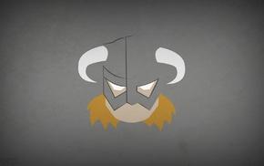 helmet, Blo0p, heroes, Dovakhiin, minimalism, The Elder Scrolls