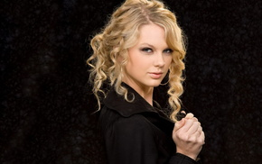 eyes, hair, face, Taylor Swift, background