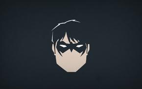Blo0p, minimalism, Nightwing, DC Comics, superhero, heroes