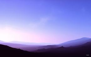цифровое искусство, горы