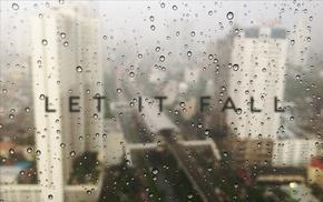 размыто, типография, дождь, вода на стекле, город
