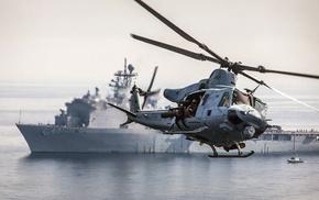helicopter, ocean, ship, aircraft, USA