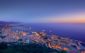 city, lighting, ocean, lights, stunner
