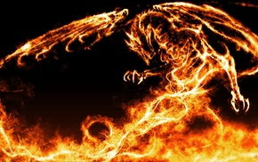 dragon, fire