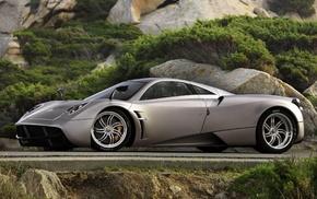 sportcar, road, stone, auto, nature