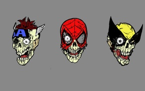 Marvel Zombies, Spider, Man, zombies, Wolverine, Captain America