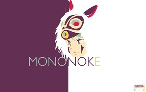 Studio Ghibli, Princess Mononoke, anime girls