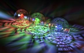 3D, highlights, balloon, rainbow
