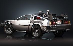 car, DeLorean, Back to the Future