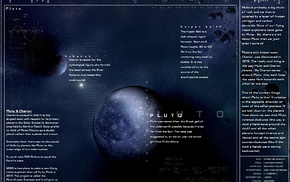 planet, moon, infographics, Pluto