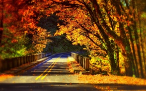 road, fall, bridge