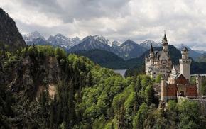 Germany, lake, forest, sky, stunner
