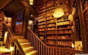 books, library