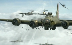 Boeing B, 17 Flying Fortress, World War II, dogfight, star engine, airplane