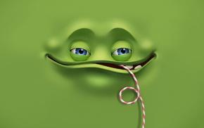 3D, green, eyes