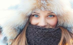 голубые глаза, девушка, блондинка