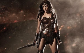 sword, Gal Gadot, superheroines, warrior, Wonder Woman