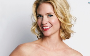 smiling, January Jones, blonde
